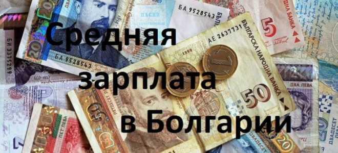 Средняя и минимальная зарплата в Болгарии