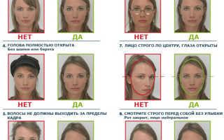 Требования к фото для оформления ВНЖ в России