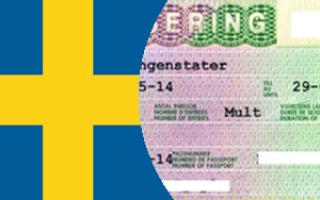 Заполнение анкеты для оформления визы в Швецию