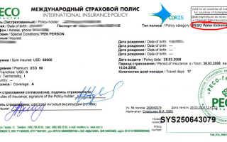 Страховка для оформления визы в Эстонию