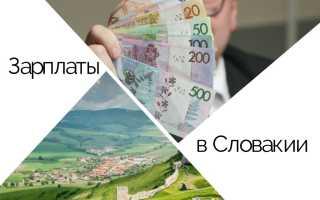 Зарплаты в Словакии – средний и минимальный оклад