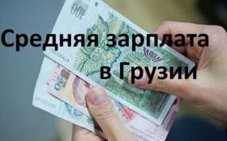 Средняя зарплата в Грузии