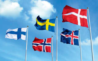 Скандинавские страны: список, положение на карте, их флаги