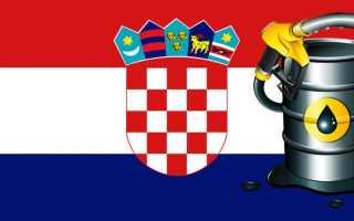 Стоимость бензина в Хорватии