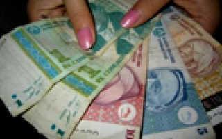 Средняя зарплата в Таджикистане