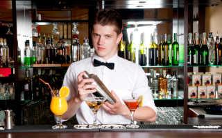Средняя зарплата бармена