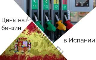 Цены на бензин в Испании