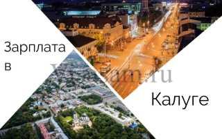 Средняя зарплата в Калуге